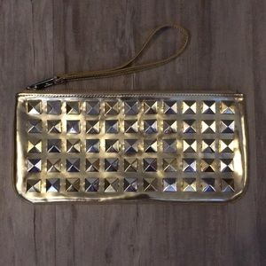 NWOT Jacobs by Marc Jacobs Gold Studded Clutch